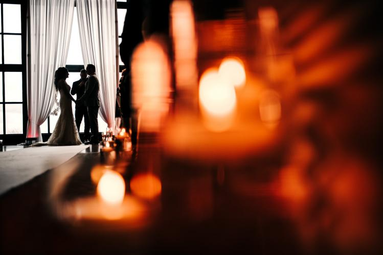 candlelit wedding ceremony