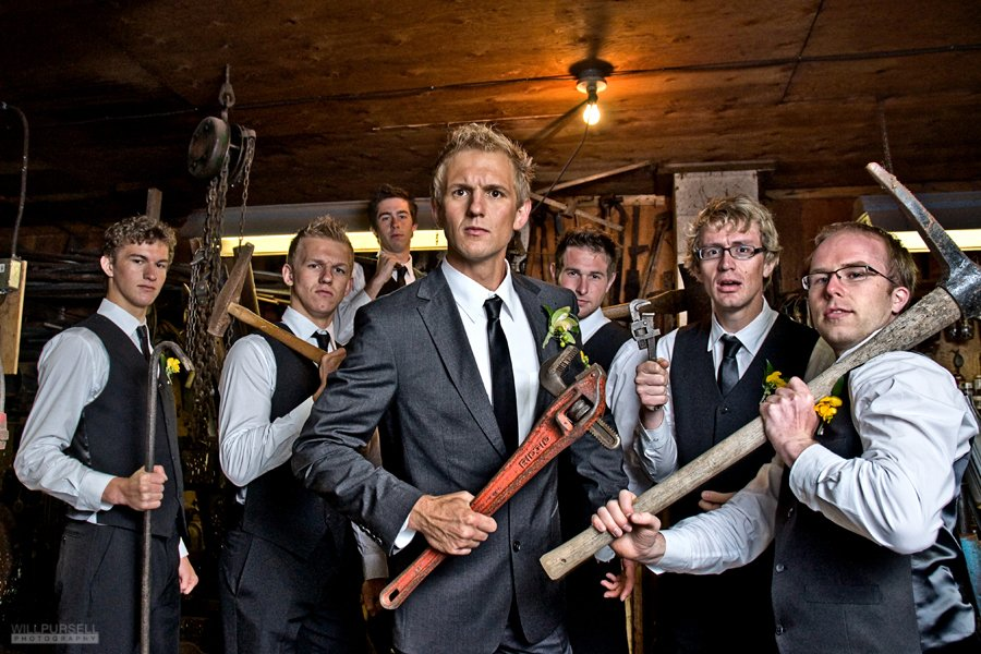 tough groomsmen