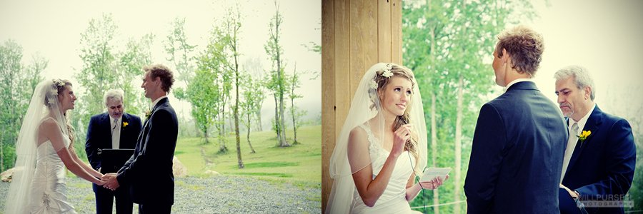 barn wedding ceremony layout