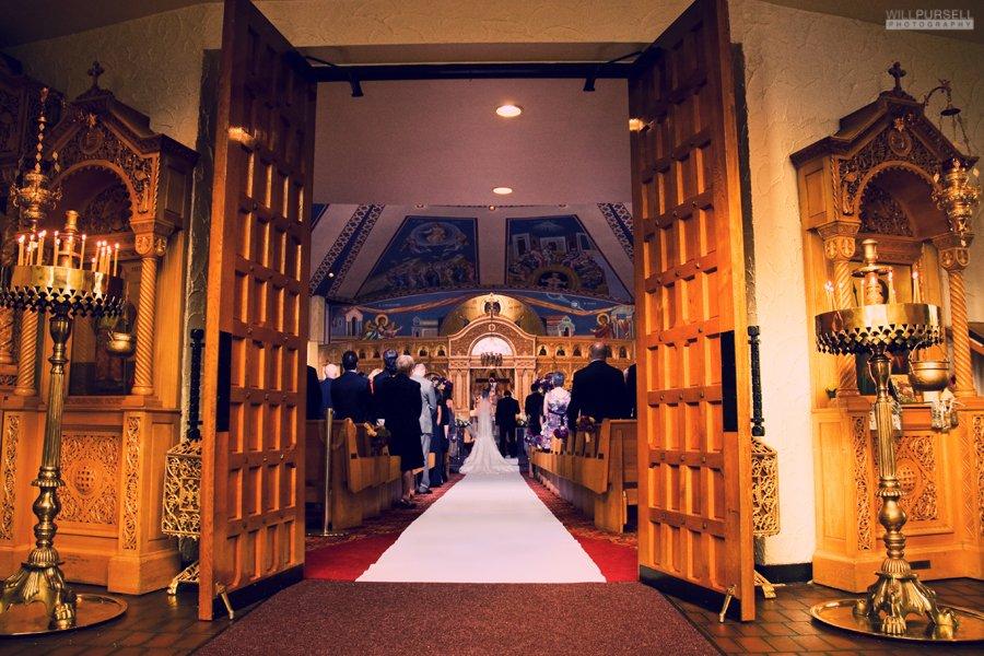 candid photo of greek orthodox chruch