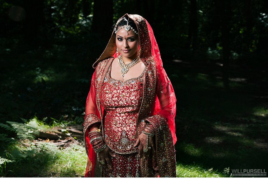 Indian bride in Vancouver forest
