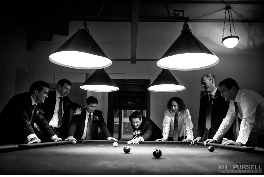 Wedding billards photo
