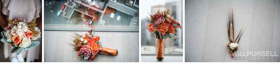 autumn style wedding flowerers and details