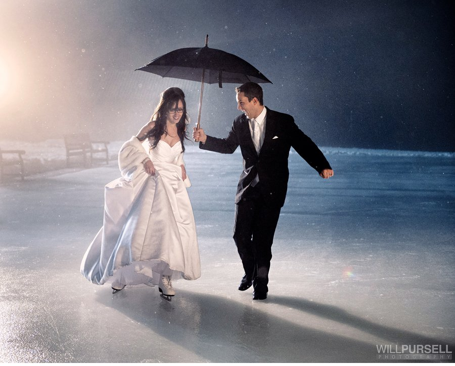 wedding ice skating