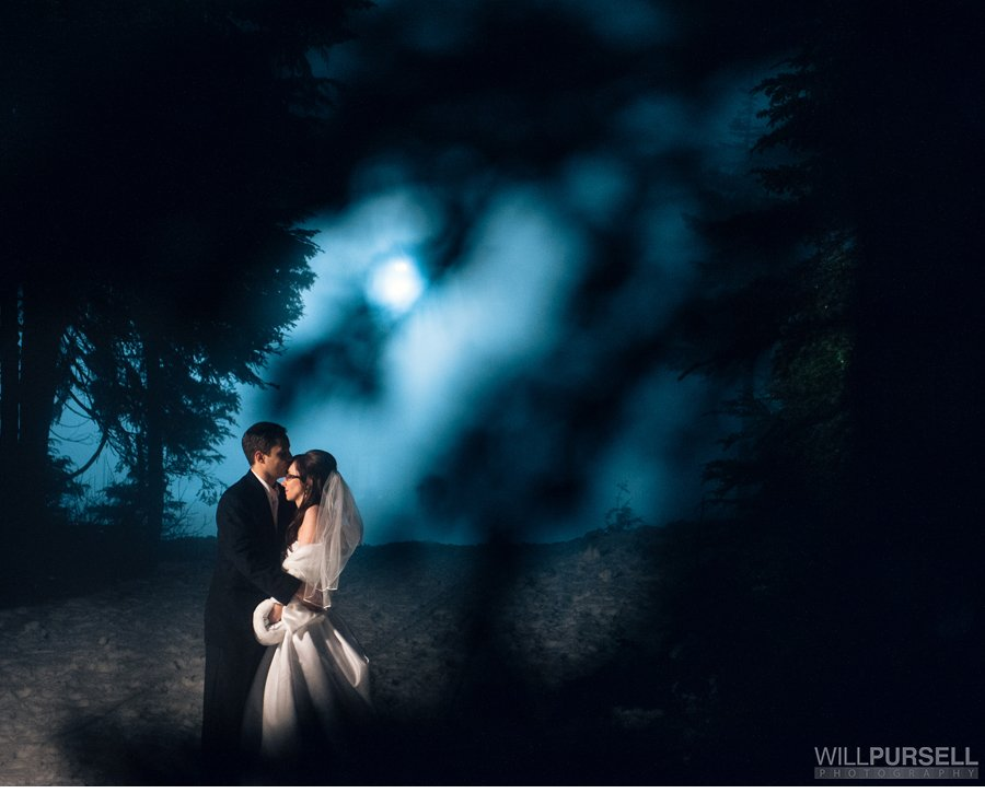 grouse mountain winter wedding