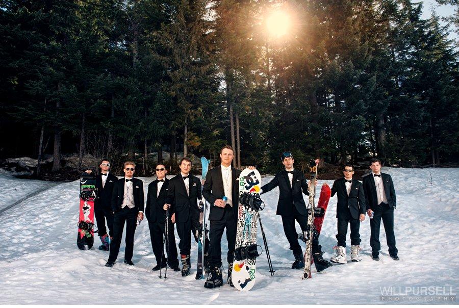ski wedding photo