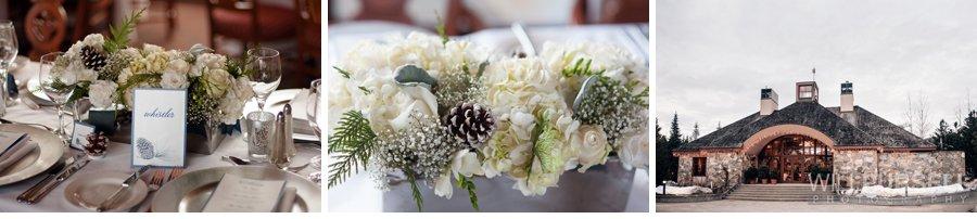 winter inspired wedding details