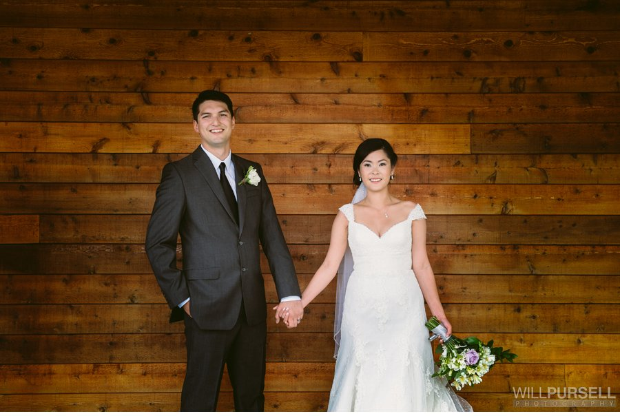 rustic portrait wedding