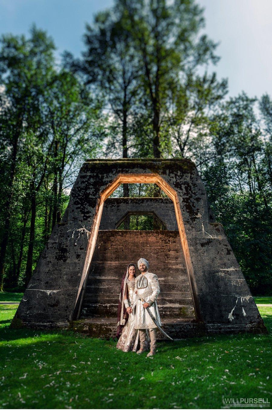 Sikh wedding portrait photo