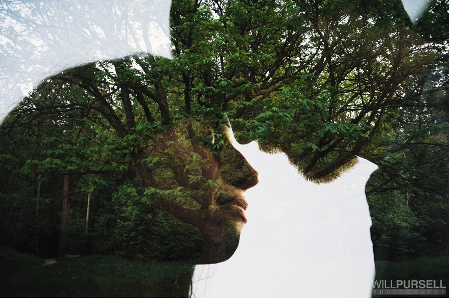 nature double exposure photography