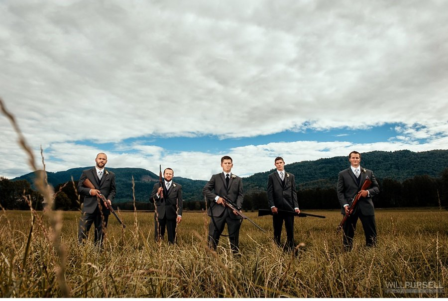 grooms with guns
