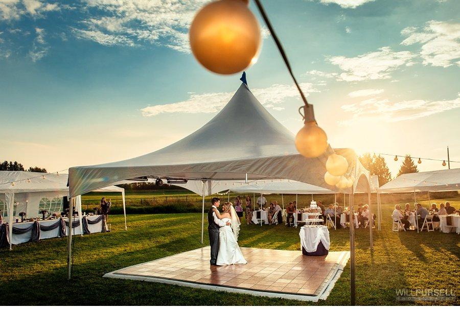 vancouver outdoor wedding tent