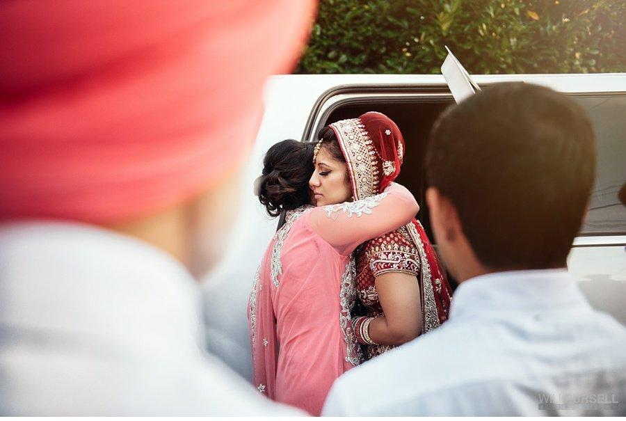 indian bride leaving home