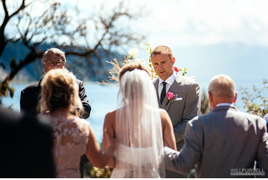 outdoor ceremony Rockwater sunshine coast