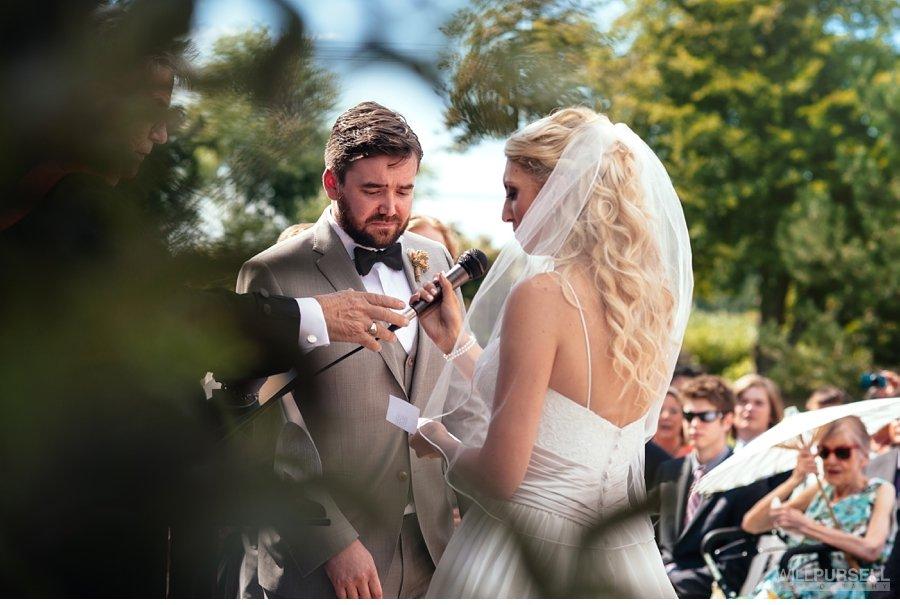 outdoor ceremony wedding vows