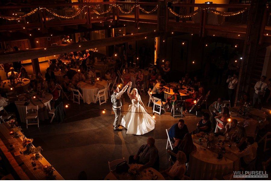 wedding first dance barn