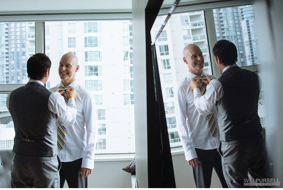 getting ready groom photo vancouver