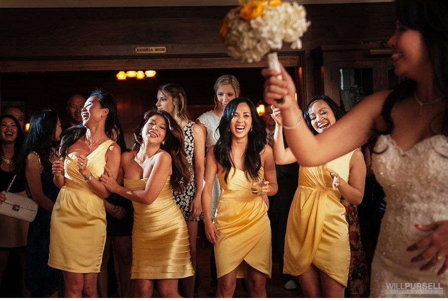 bouquet toss wedding photo vancouver