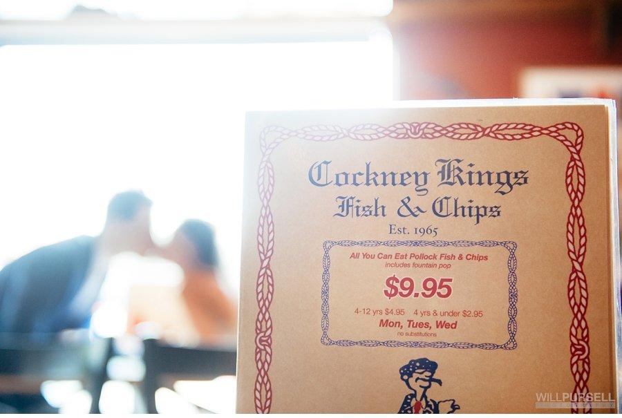 cockney kings restaurant wedding portrait