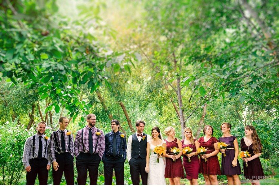 wedding party photo okanagan