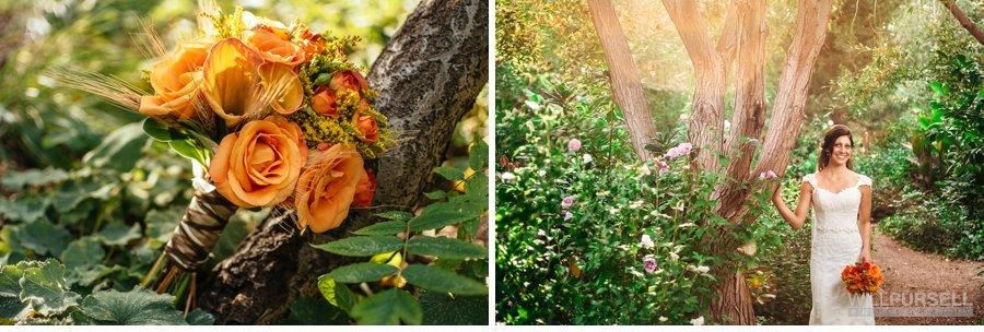 bridal portrait and bouquet photo
