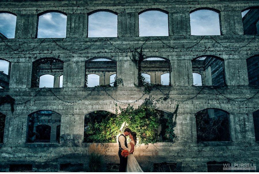 wedding photo at old commercial hotel kaledon bc