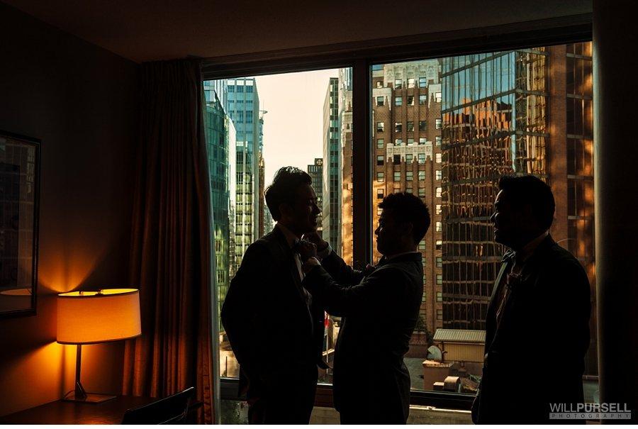 terminal city club groom getting ready wedding photo