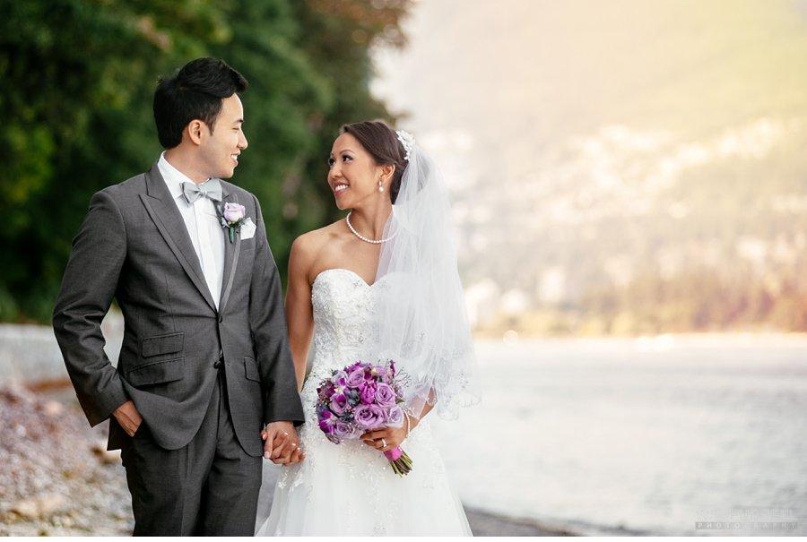 stanley park vancouver wedding portrait
