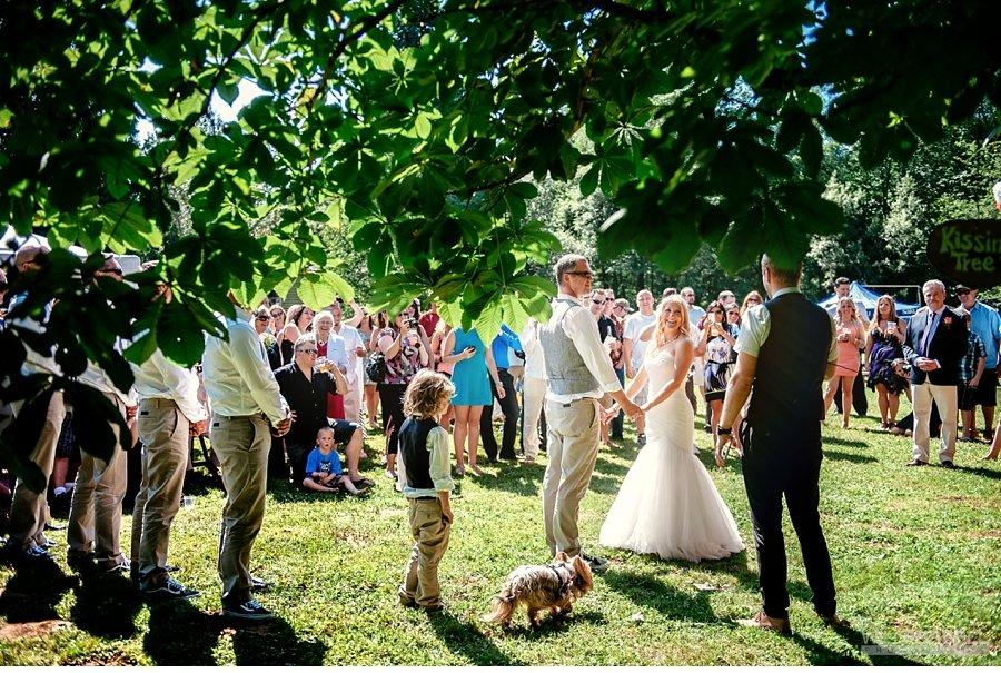 casual outdoor ceremony