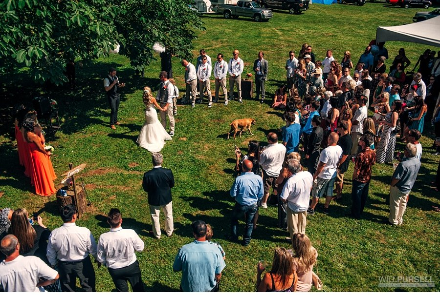 outdoor ceremony with tents