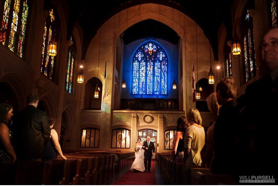 St. Andrew's Wesley Church wedding ceremony