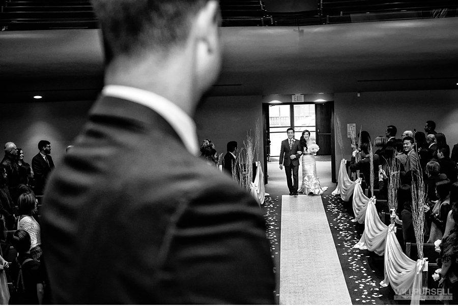 first look in richmond bc church wedding