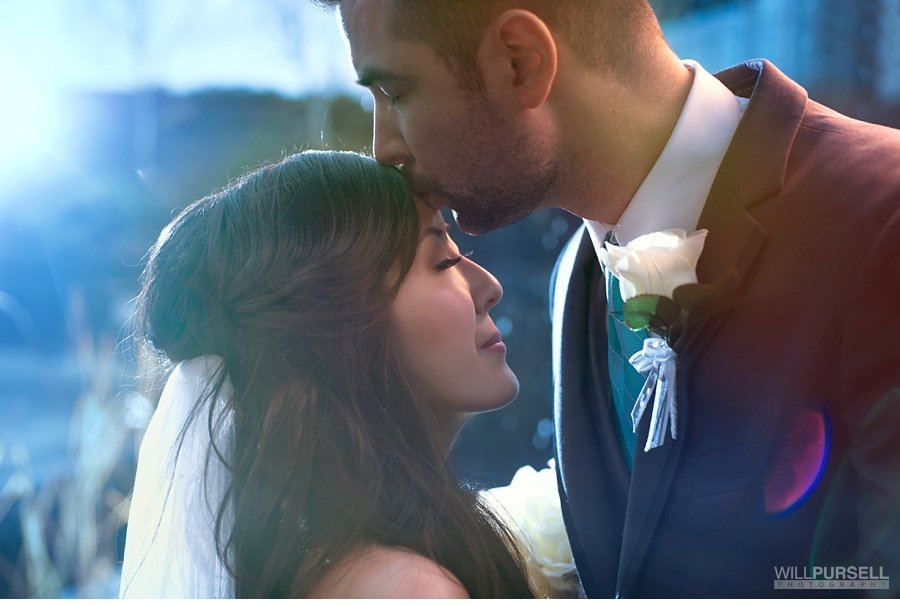cinematic wedding portrait