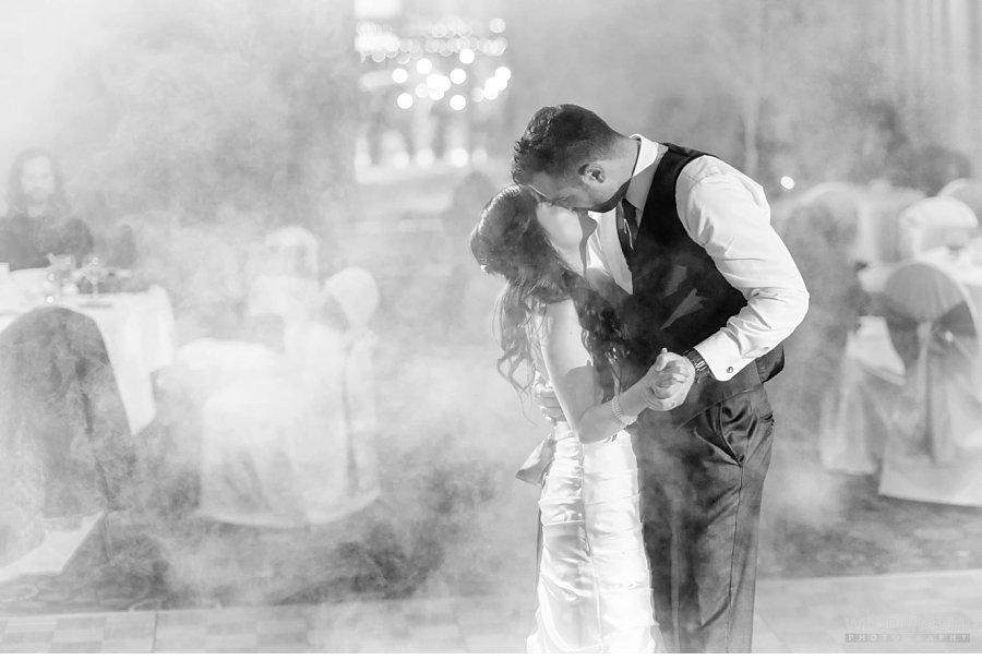 dancing on a cloud wedding photo