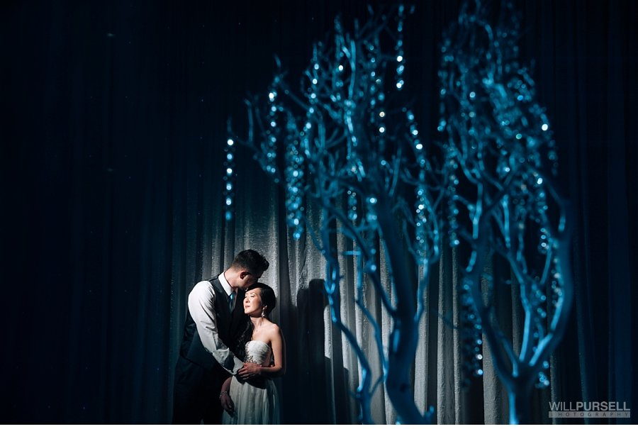 portrait wedding details tree centrepieces