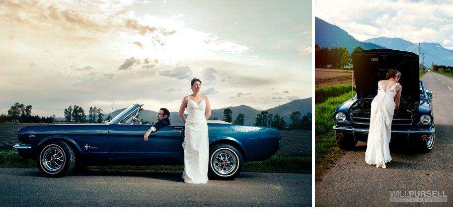 wedding photos restored cars