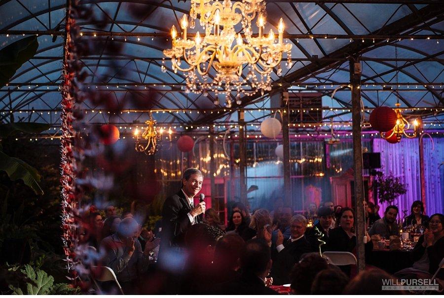 reception at secret gardens greenhouse