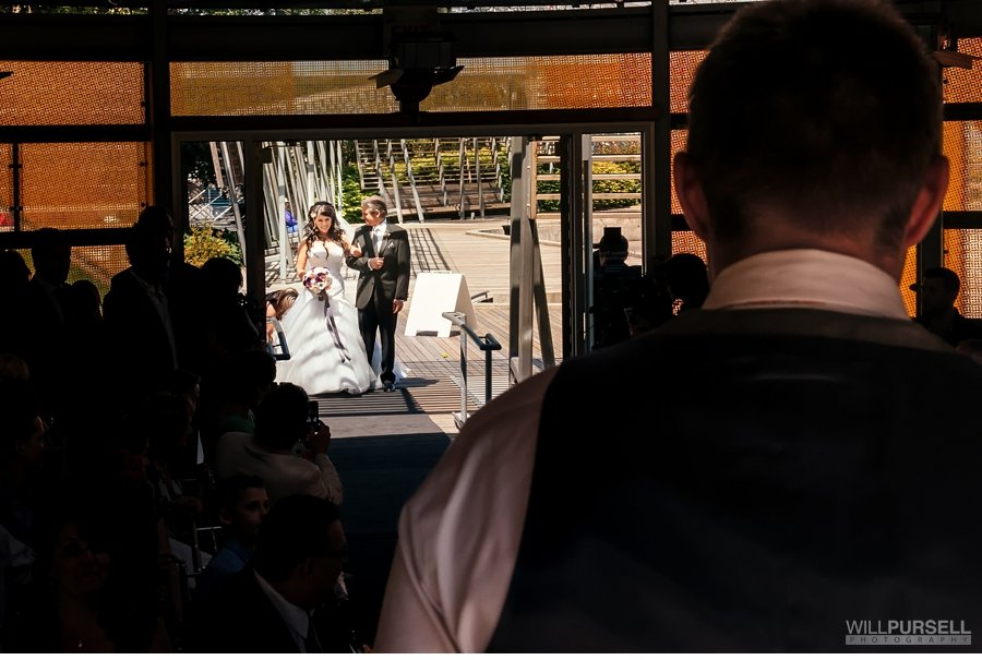 first look at  wedding  celebration pavilion