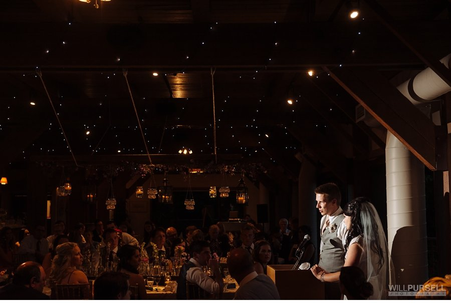 bride and groom speech diamond alumni centre wedding