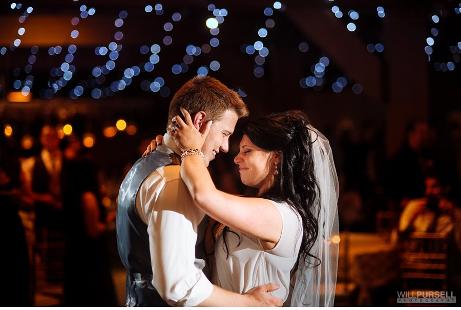 emotional first dance at diamond alumni centre wedding
