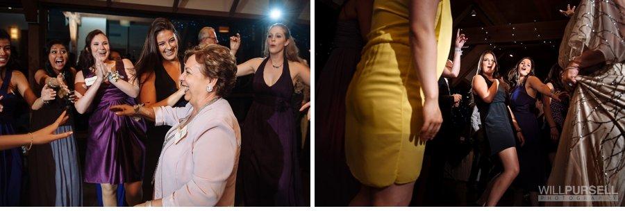 guests dancing at wedding photos