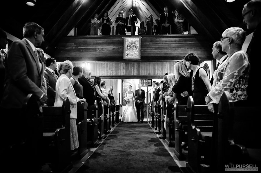 wedding at St. Francis in the Wood church