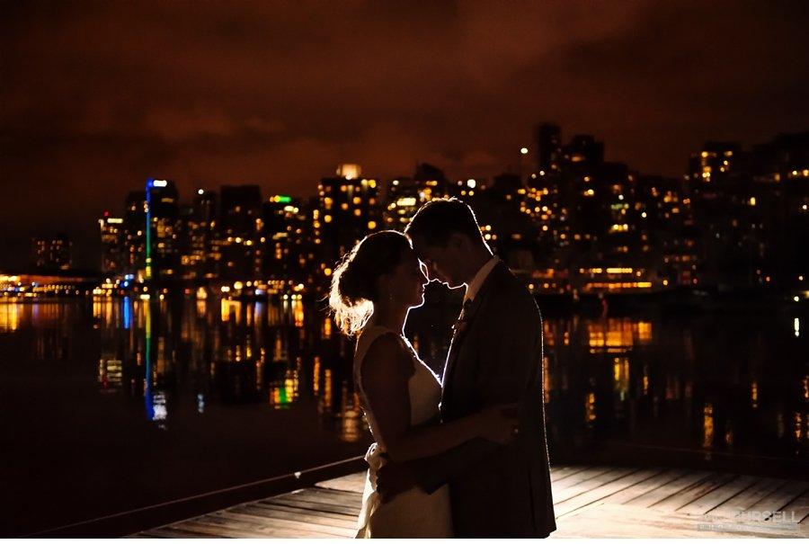 wedding night photo vancouver