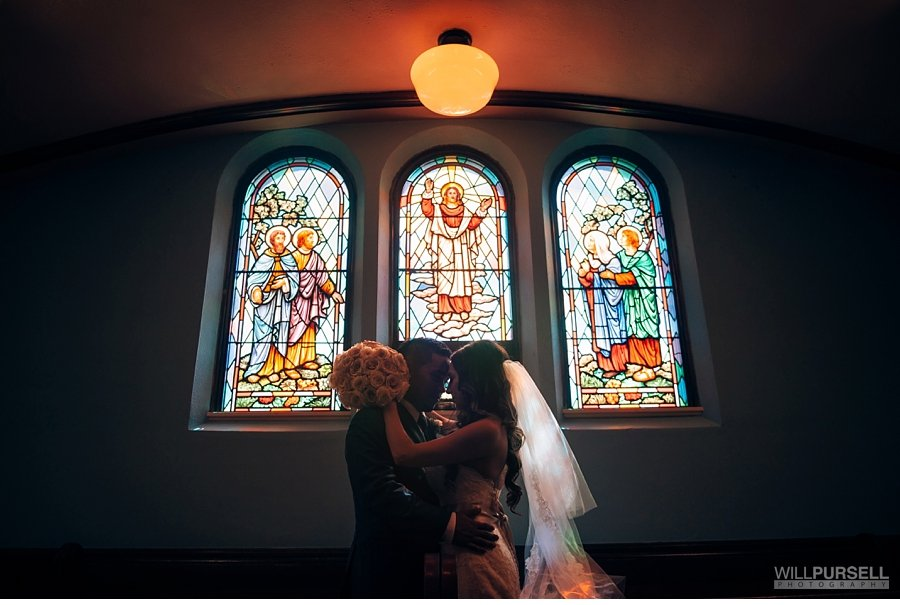 wedding photo in vancouver church