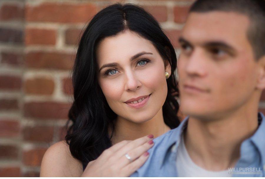 engagement portrait closeups