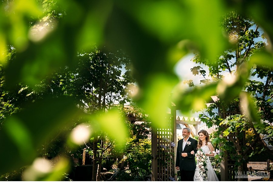 outdoor wedding ceremony at secret garden abbotsford