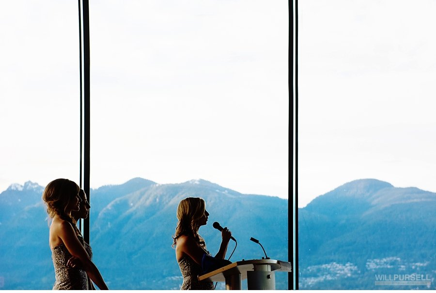 mountain views at Vancouver convention centre wedding