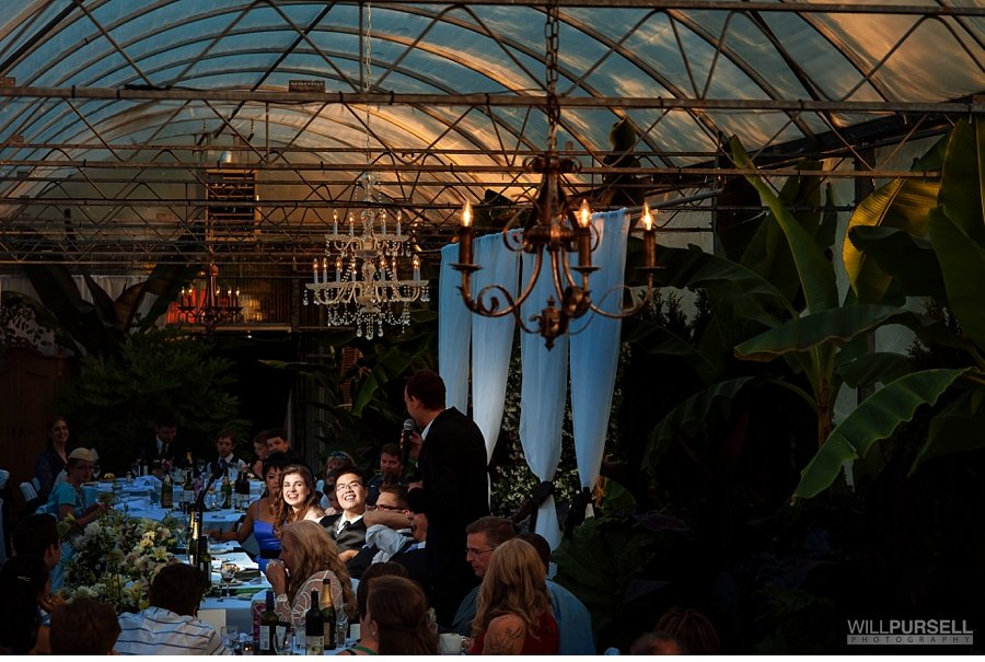 secret garden wedding in greenhouse