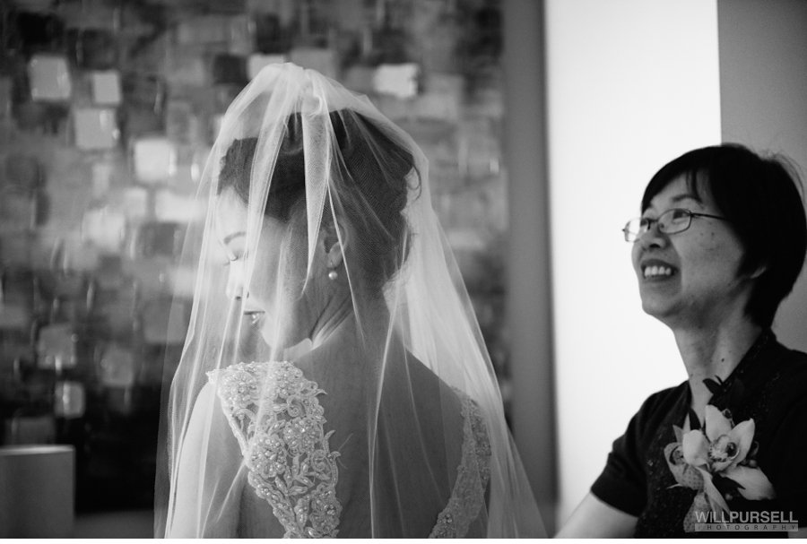The white wedding dress