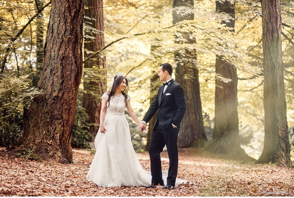 forest  wedding photos in Stanley Park